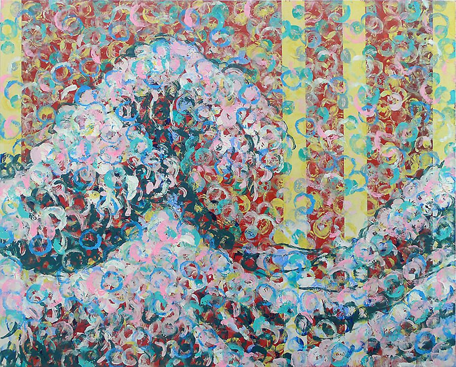 Stefan Ssyskor, Wave, 2008, acrylic on canvas, 15 x 12""