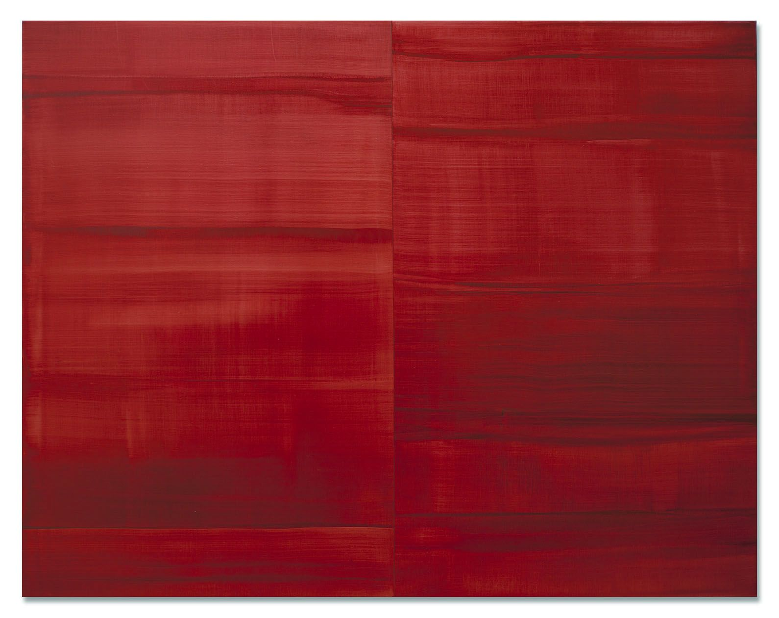 Guadalajara Red, 2016, oil on linen, 55 x 70 inches/139.7 x 177.8 cm
