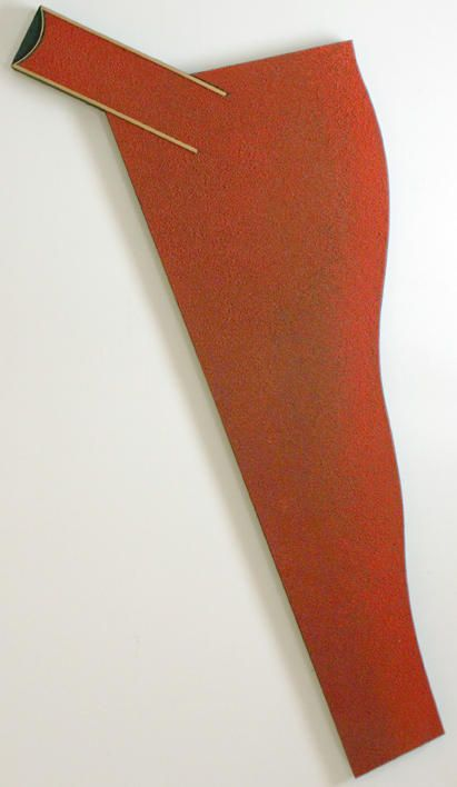 "Lee Waisler, Construction, 1981, Acrylic, sand, glass and wood on canvas, 75 x 56"""