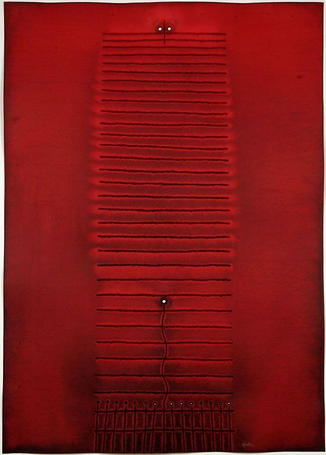 """Kama III, 2007, Ink and dye on paper, 55 x 39"""""""