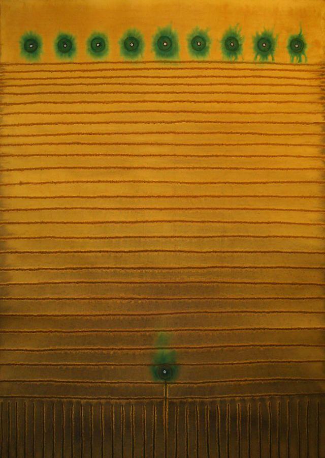 """Vana III, 2008, Ink and dye on paper, 55 x 39"""""""