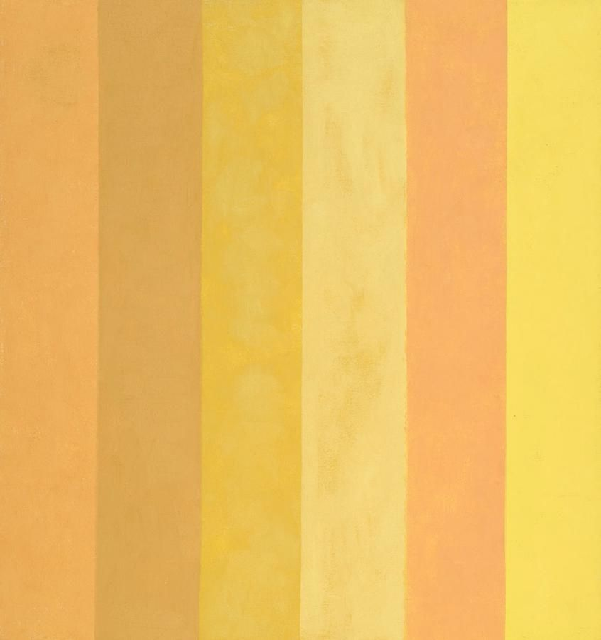 6 Brands of Naples Yellow, 2009, oil on linen, 32 x 30 inches
