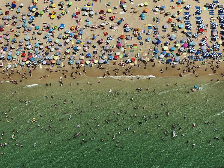 , Edward Burtynsky, Benidorm #1, Spain, 2010, Chromogenic color print, 39 x 52 inches
