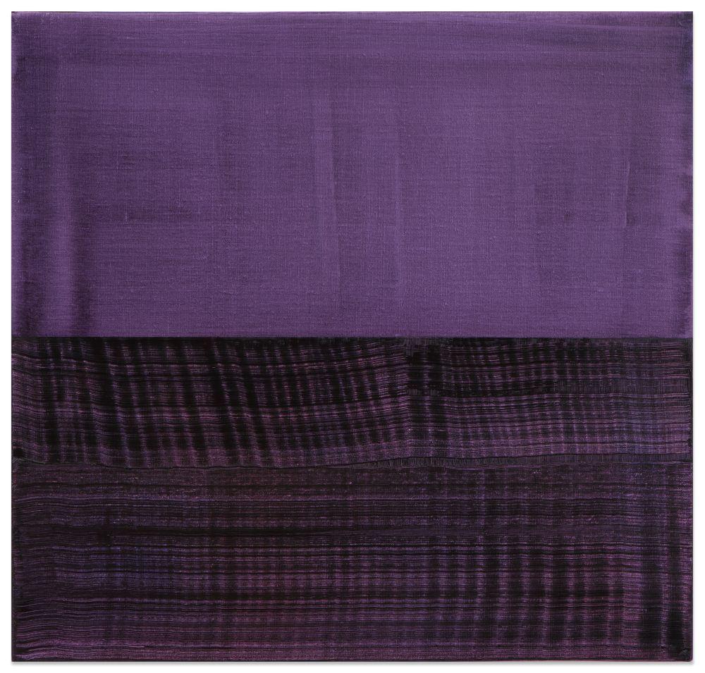 Split Violet Blue 1, 2016, oil on linen,23 x 24 inches/58.4 x 61 cm