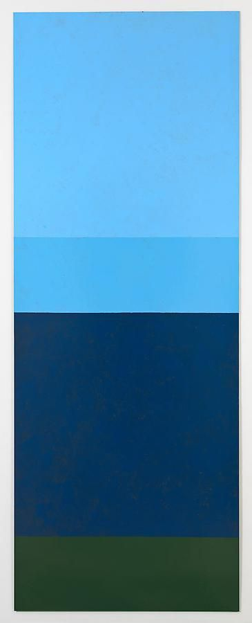 Untitled, 2011, rust preventive paint on steel, 96 x 36 inches