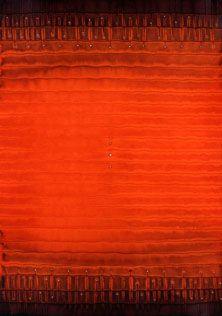 "Sohan Qadri, Dhyana, 2005, Ink & dye on paper, 64 x 48"""