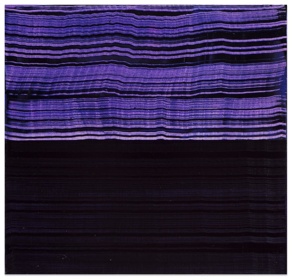 Violet Blue and Black1, 2016, oil on linen,23 x 24 inches/58.4 x 61 cm
