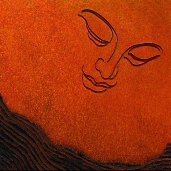 Lee Waisler, Zen Gardener, 2008, mixed media on canvas, 50 x 50 inches/127 x 127 cm