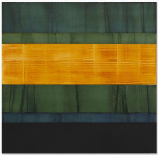 Ricardo Mazal, Composition in Greens 3, 2014, oil on linen, 71 x 73 inches/180.3 x 185.4 cm