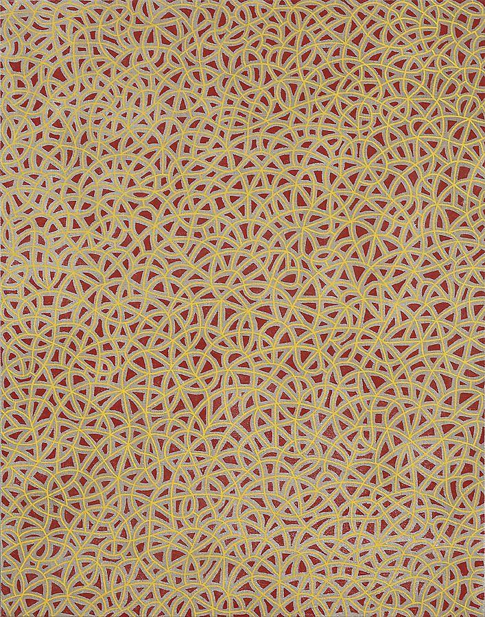 """Anil Revri, Fractal XXA, 2006, mixed media on linen, 28 x 22"""""""