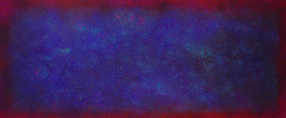 "Natvar Bhavsar, ALPAA, 2005, Pure pigment on canvas, 45 x 108"""