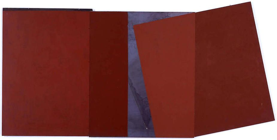 """Merrill Wagner, Laughter, 2003, Rust preventative paint on steel, 24 x 52"""""""