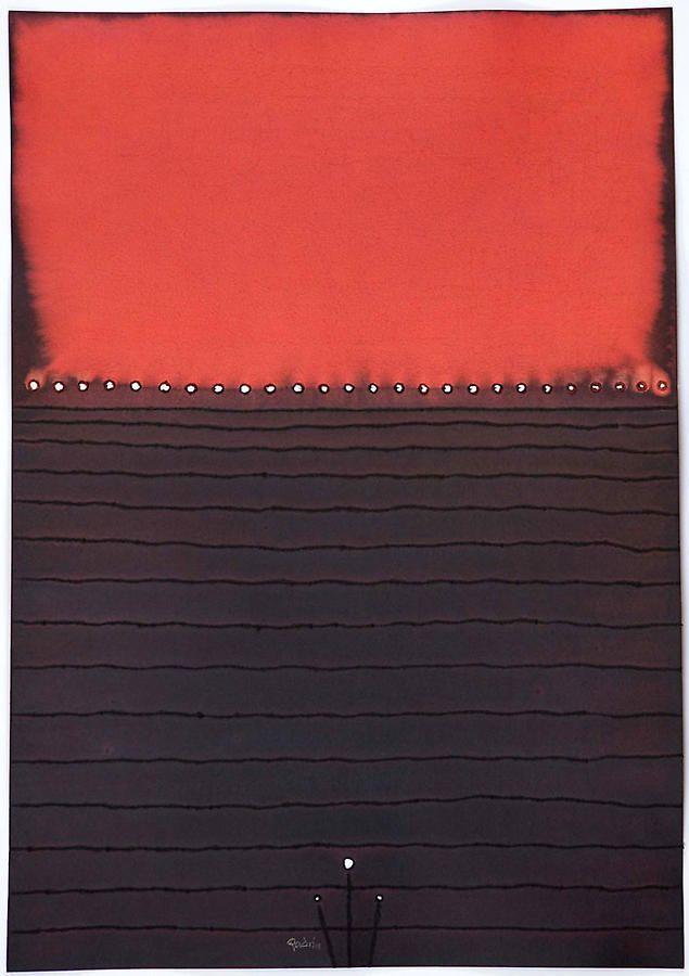 "Bija, 2008, Ink and dye on paper, 39 x 27"""