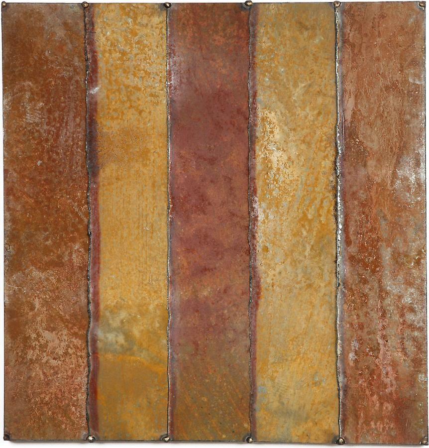 "Nathan Slate Joseph, Cuts of Silk, 2005, Pure pigment on galvanized steel, 24 x 24"""