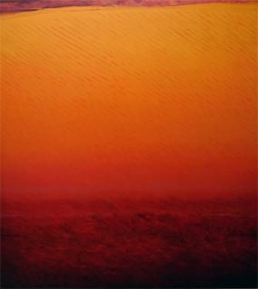 Joan Vennum, Between Delhi and Lahore, 2007, oil on canvas, 53 x 48 inches