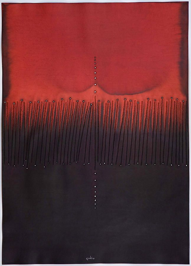 """Suphala III, 2008, Ink and dye on paper, 55 x 39"""""""