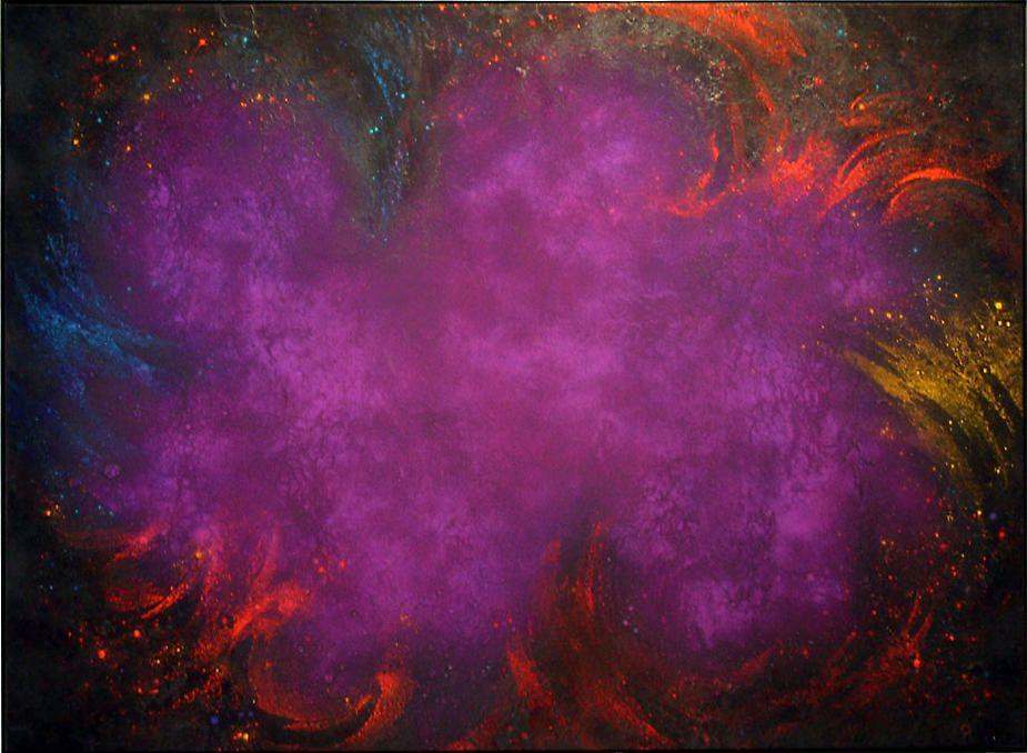 "Natvar Bhavsar, AKSHYAA, 1992-93, pure pigment on canvas, 66 x 90"""