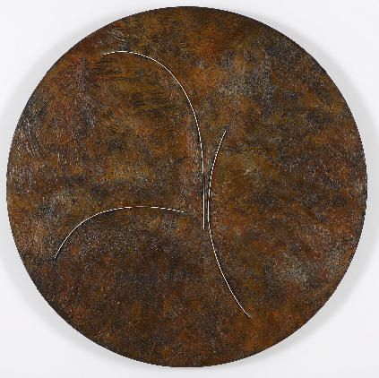 Lee Waisler, The First Circle, 2007, Acrylic and wood on canvas, 4' diameter