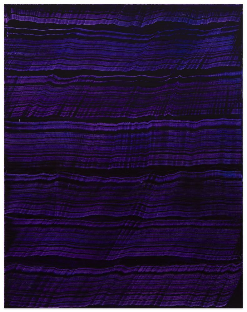 Violet Blue 3, 2016, oil on linen, 70 x 55 inches/177.8 x 139.7 cm