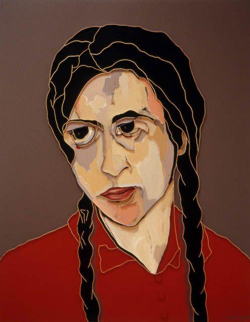 "Lee Waisler, The German Girl, 2007, Acrylic and wood on canvas, 60 x 48"""