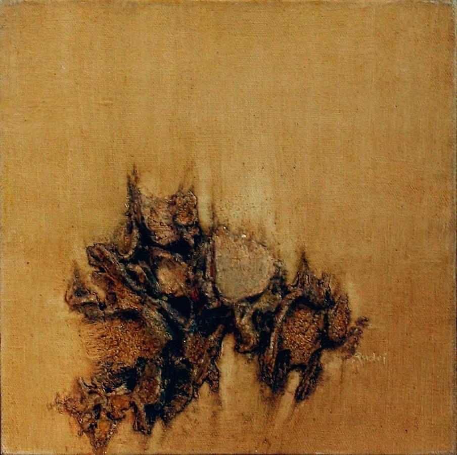 """Oil (Denmark), 1968, Oil on canvas, 14 x 14"""""""