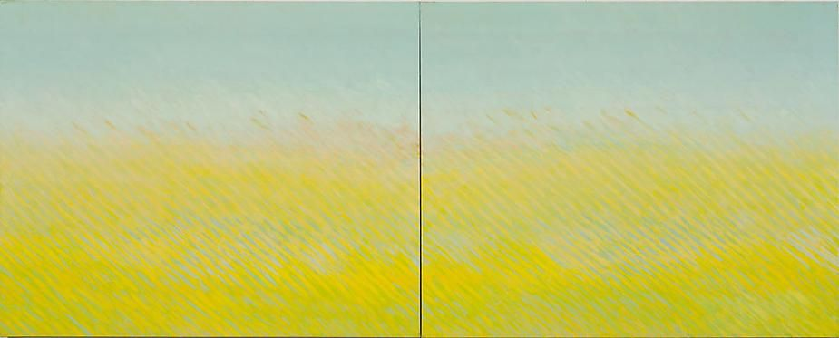 Latitude, 2007, oil on canvas, 48 x 120 inches