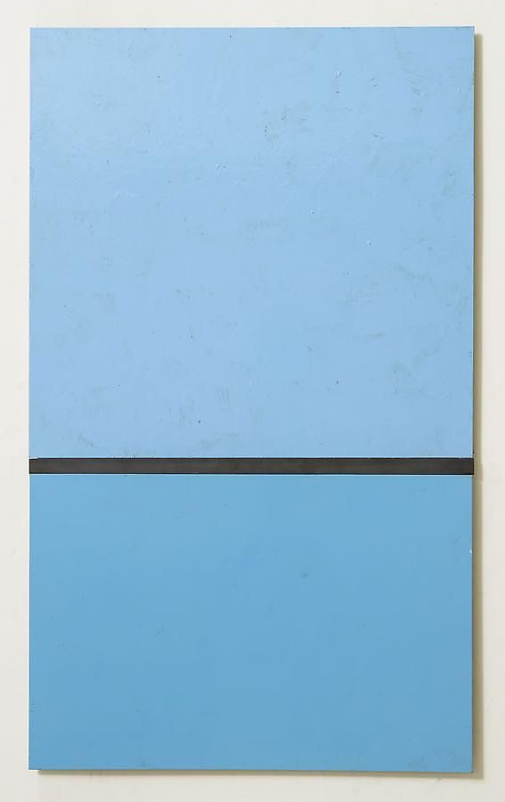 Untitled, 2012, rust preventive paint on steel, 30.25 x 18 inches