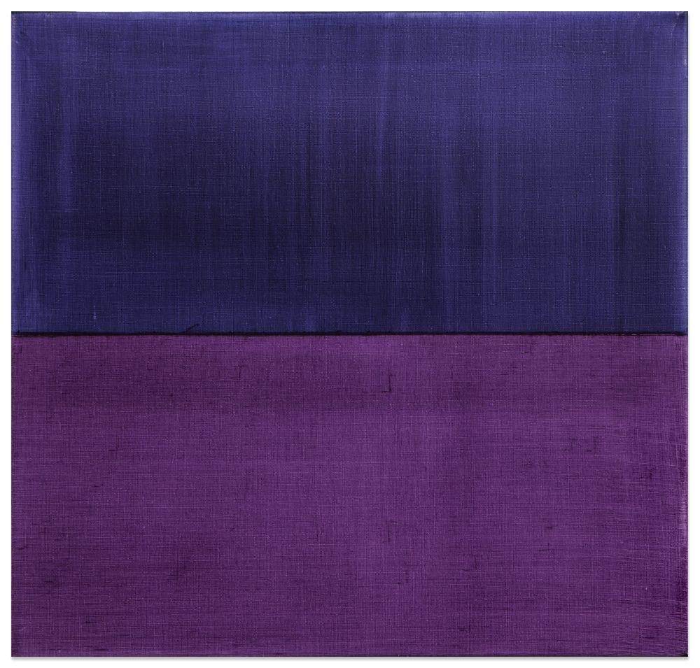 Split Violet Blue 3, 2016, oil on linen,23 x 24 inches/58.4 x 61 cm