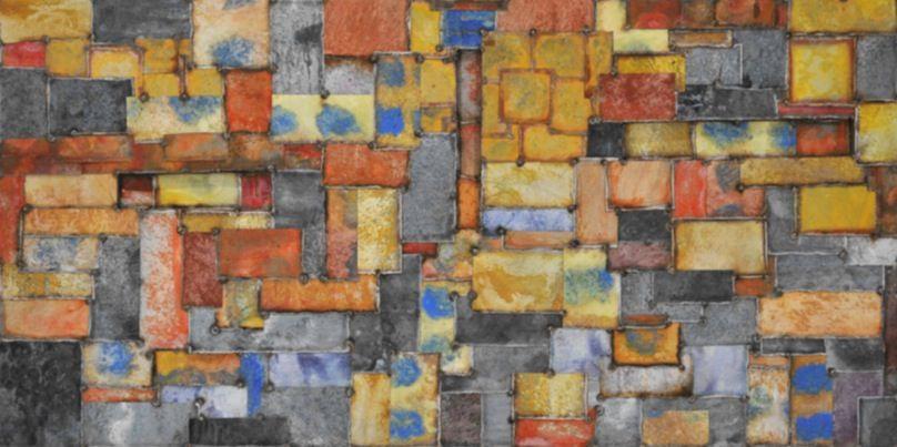Nathan Slate Joseph, RioRioRio, 2013, pure pigment on steel, 48 x 96 inches/121.9 x 243.8 cm