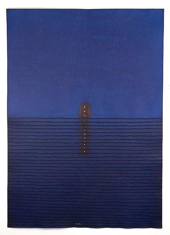 "Ambor III, 2006, Ink & dye on paper, 60 x 45"""