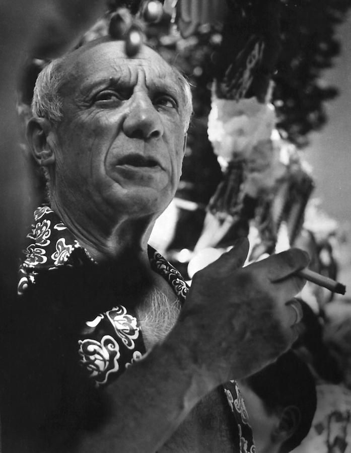 """France, Pable Picasso, 1956, Silver gelatin print, 13 x 9"""""""