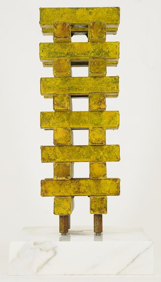 "Nathan Slate Joseph, Urbana XXIV, 2008, Pure pigment on galvanized steel, 16 x 5 x 5"""