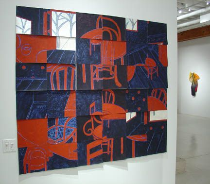Susan Weil, Interior , 2000, Acrylic and paper, 60 x 66""