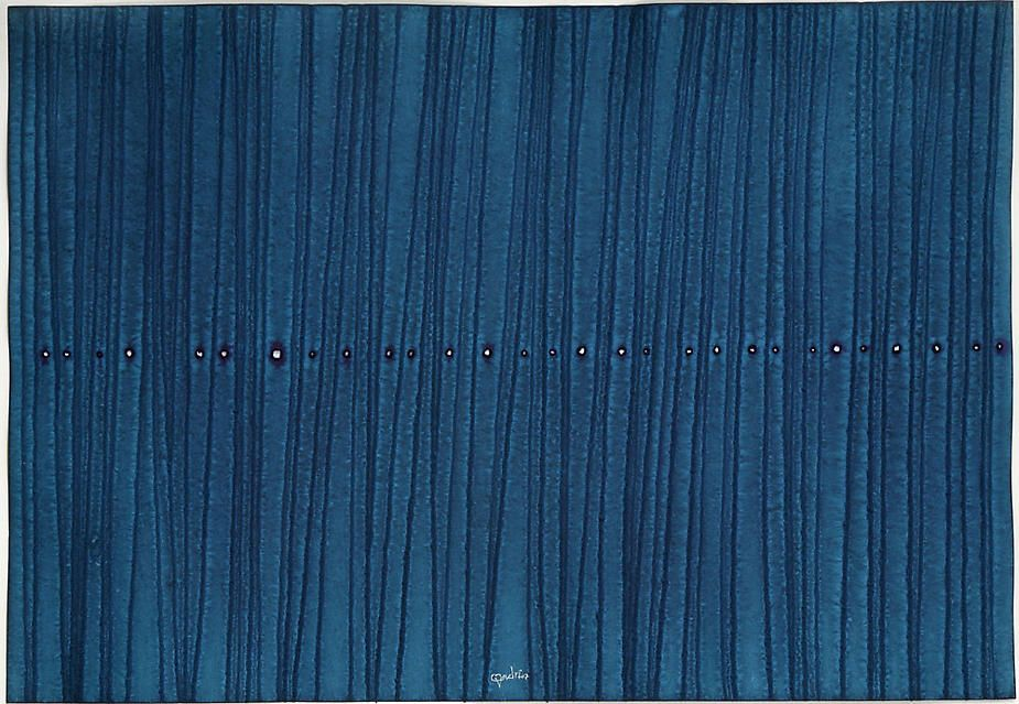 "Sagara VIII, 2007, Ink and dye on paper, 39 x 27"""