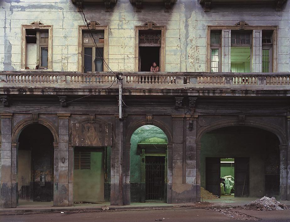 Calzada de Infanta 55 (at the corner of Humboldt), Centro Habana, Havana, Cuba, 1997, archival inkjet  print, 40 x 50 inches