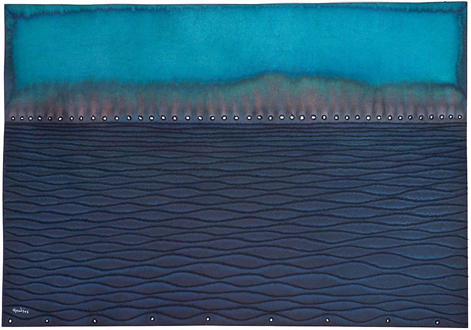 "Puskara II, 2008, Ink and dye on paper, 27 x 39"""