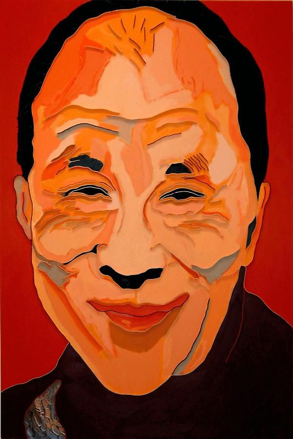 Dalai Lama II, 2008, mixed media on canvas, 60 x 40 inches/152.4 x 101.6 cm