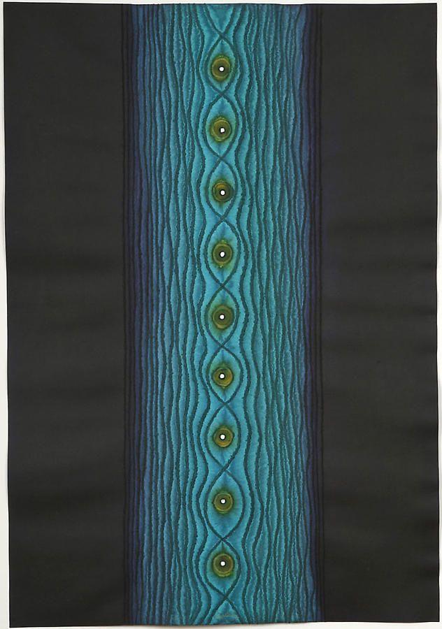 """Tilak III, 2007, Ink and dye on paper, 39 x 27"""""""