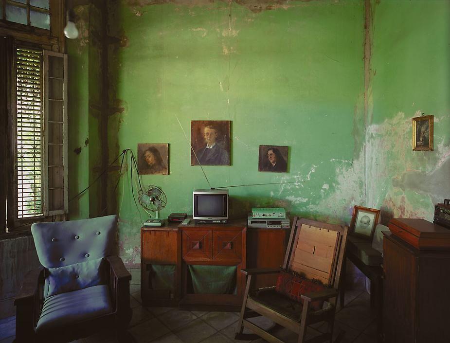Home of Mercedes Alfonso, Línea No. 508 (between D and E), Vedado, Havana, Cuba, 1997, archival inkjet print, 40 x 50 inches