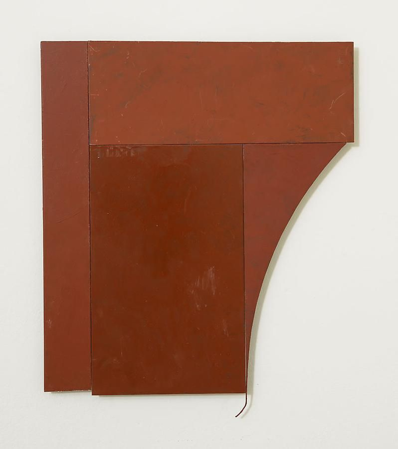 Untitled, 2012, rust preventive paint on steel, 17 x 14.25 inches