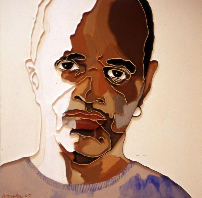 "Lee Waisler, James McBride, 2007, Acrylic and wood on canvas, 40 x 40"""