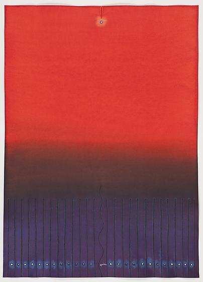 , Sohan Qadri, Dan V, 2009, ink and dye on paper, 55 x 39 inches