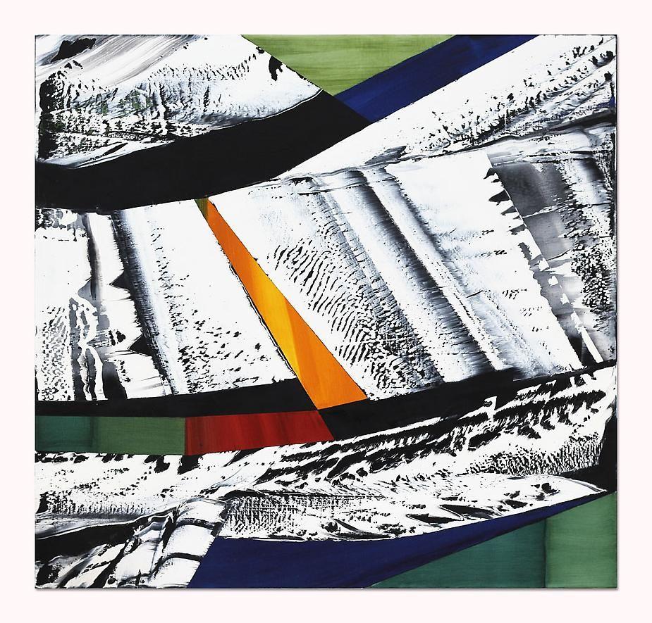 , Ricardo Mazal, Black Mountain MK 9, 2014, Oil on linen, 40 x 42 inches