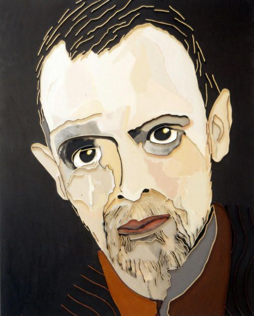 "Lee Waisler, Paul Klee, 2007, Acrylic and wood on canvas, 60 x 48"""