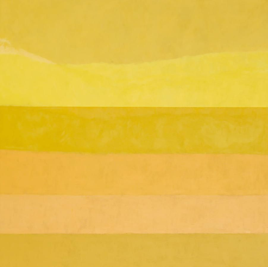 6 Brands of Naples Yellow, 2011, oil on linen, 72 x 72 inches