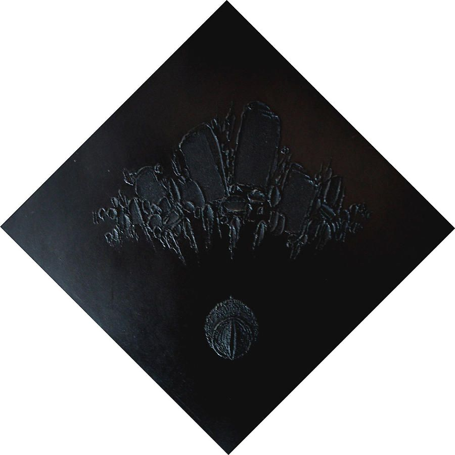 "Spirited Drop III, 1974, Oil on canvas, 48 x 48"""