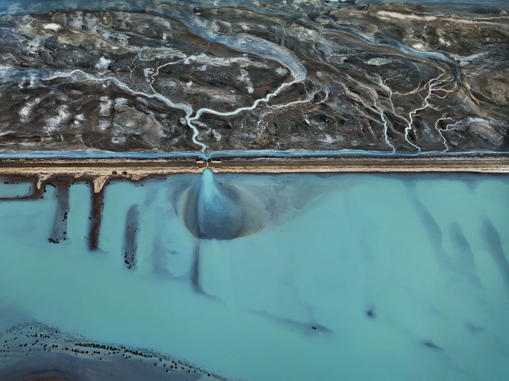 Cerro Prieto Geothermal Power Station, Baja, Mexico, 2012, chromogenic color print,48 x 64 inches/121.9 x 162.6 cm