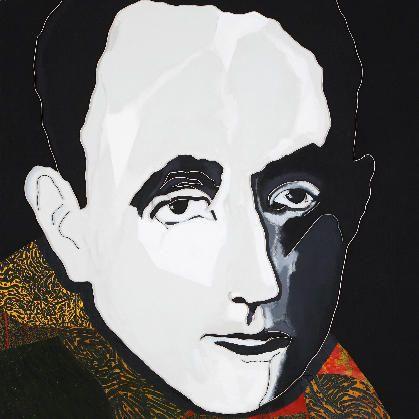 "Lee Waisler, Zelman Kessler, Vienna 1933, 2007, Acrylic and wood on canvas, 60 x 60"""