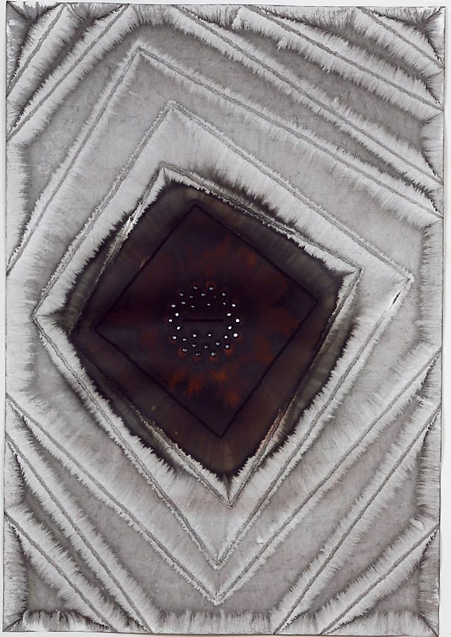"""Amrita V, 2007, Ink and dye on paper, 39 x 27"""""""