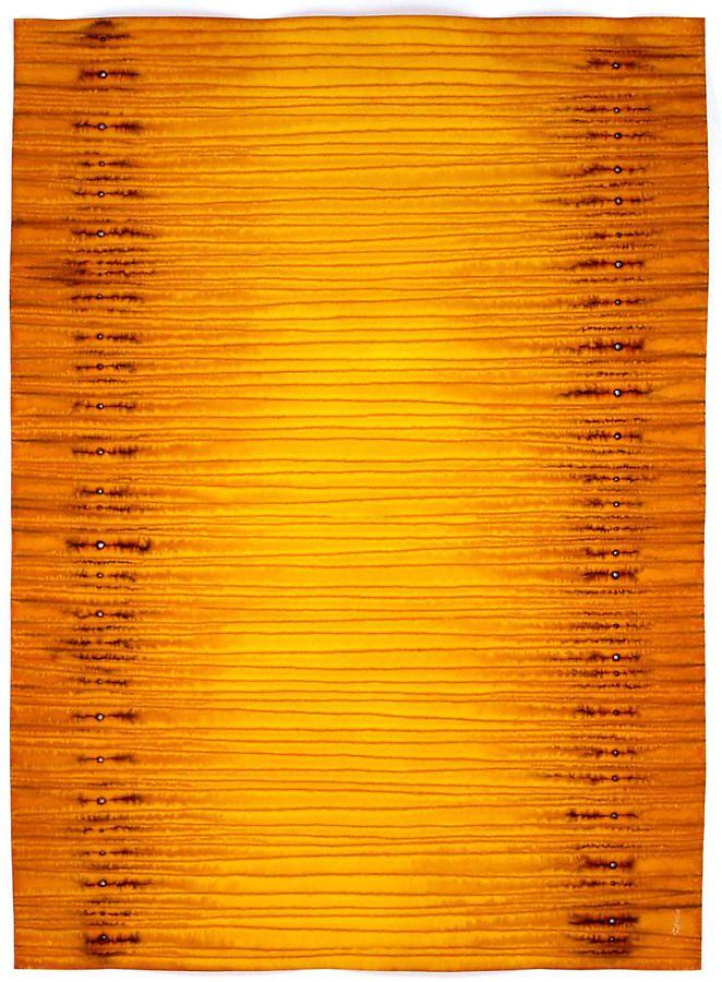 "Sohan Qadri, Smrti, 2007, ink and dye on paper, 55 x 39"""